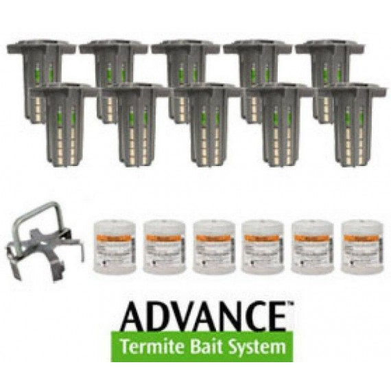 Advance Termite Control Bait & Monitoring System 30 stations 12 Baits 1 Spider