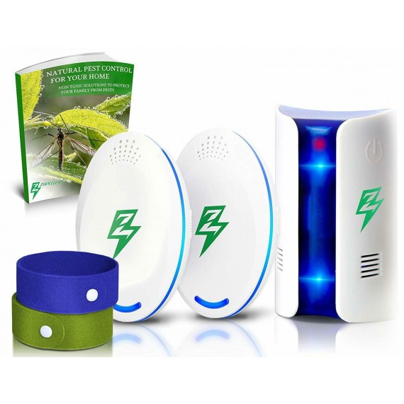 3 Pack Ultrasonic Pest Repeller Electronic Reject Control Insect Repellent Set