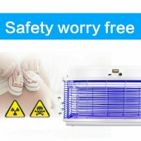20 Watts Outdoor Electric UV Mosquito Fly Killer Bug Zapper Pest Waterproof 110V